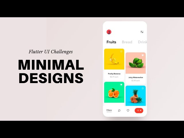 FlutterUI - Minimal designs - Fruits