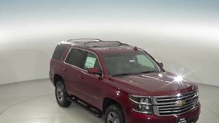 182602 - New, 2018, Chevrolet Tahoe, LT, 4WD, SUV, Red, Test Drive, Review, For Sale -
