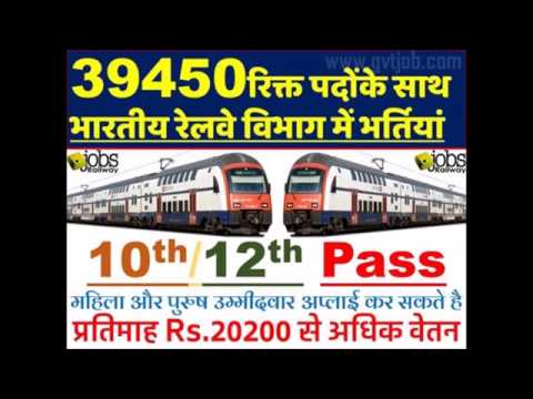Railway Jobs 2017-2018, Apply 38000 Railway Vacancies