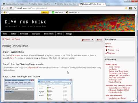 Video Tutorial 1: Installing DIVA-for-Rhino - DIVA for Rhino