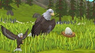 WildCraft: Animal Sim Online 3D - Eagle : Raise A Family - Gameplay Part 4 screenshot 5