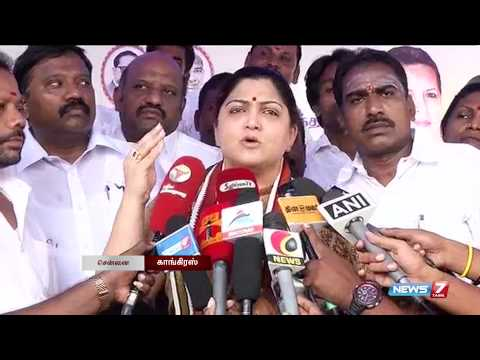 Alcohol ruins the institution of family, says Khushboo | Tamil Nadu | News7 Tamil |