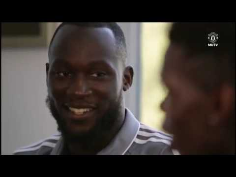 Paul Pogba Interviews Romelu Lukaku
