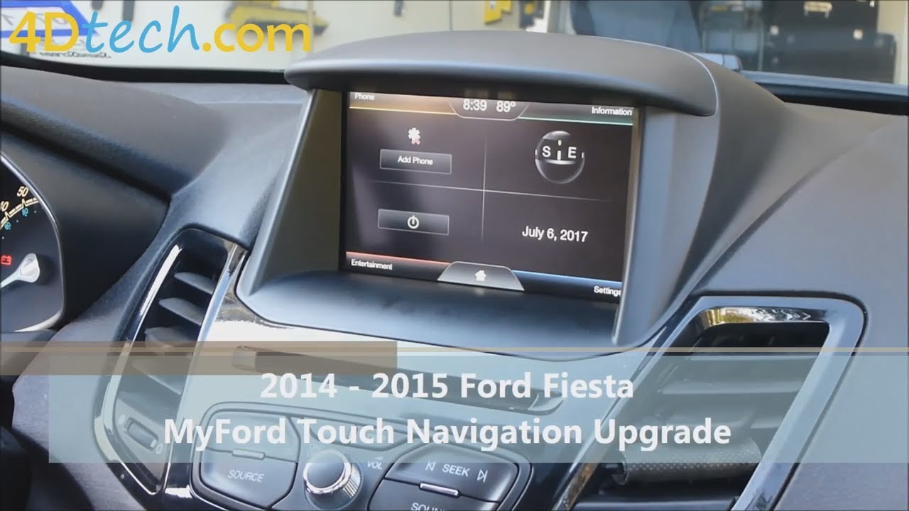 add factory navigation to myford touch 2014 2015 ford fiesta youtube. Black Bedroom Furniture Sets. Home Design Ideas