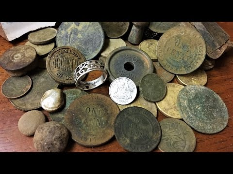 Metal Detecting Old Gold Mining Town Old Coins And Silver Found