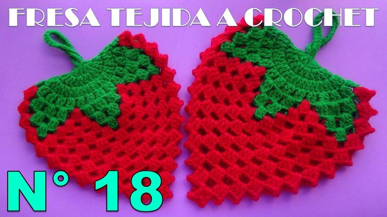 Fresa 4 con hojas a crochet manualidades tejidas para el - Manualidades y bricolaje para el hogar ...