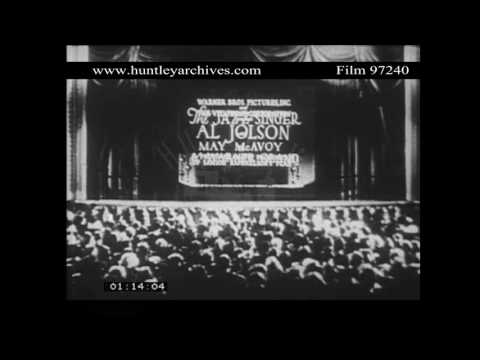 Premiere of the Jazz Singer.  Cinema Audience.  Archive film 97240