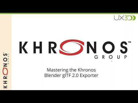 Mastering the Khronos Blender glTF 2 0 exporter