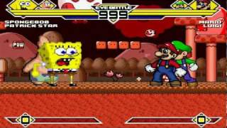 Spongebob & Patrick vs Mario & Luigi (Warner) MUGEN Battle!!! (REMATCH)