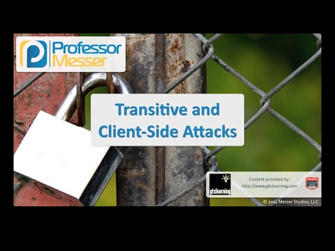 Transitive and Client-side Attacks - CompTIA Security+ SY0-401: 3.2