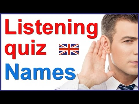 English listening and spelling quiz - People's names