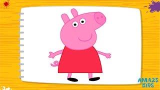 Обучающее, развивающее видео 3+. Серия - Учимся рисовать. Свинка Пеппа (Pig Peppa).(Обучающее, развивающее видео 3+. Серия - Учимся рисовать. Свинка Пеппа (Pig Peppa). http://amaze-kids.com Данное видео являе..., 2016-11-08T18:34:41.000Z)