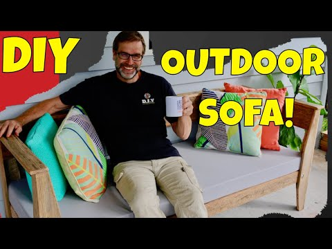 DIY Outdoor Sofa. Comfy, Cheap and the Easiest to Build!