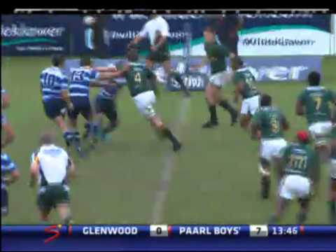 Wildeklawer Super Schools Rugby -- Glenwood High School v Paarl Boys High - First Half