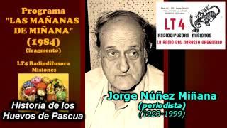 JORGE NÚÑEZ MIÑANA   HISTORIA DE LOS HUEVOS DE PASCUA 1984 fragmento del programa Las Mañanas de Miñ
