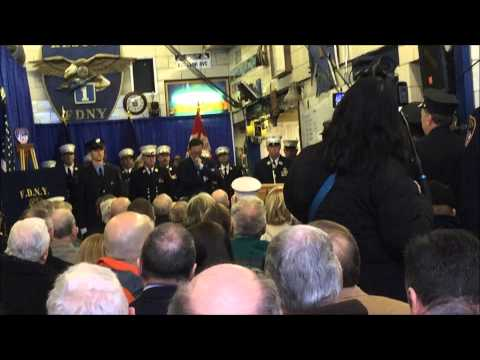 """FDNY CELEBRATING THE 100TH YEAR, """"CENTENNIAL ANNIVERSARY"""", OF FDNY RESCUE CO. 1 IN NEW YORK CITY."""