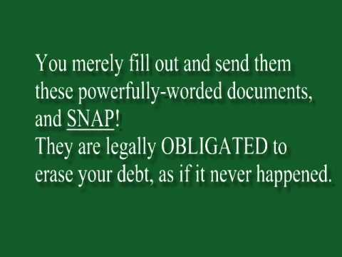 How to Eliminate Debt Legally Without Bankrupcy!
