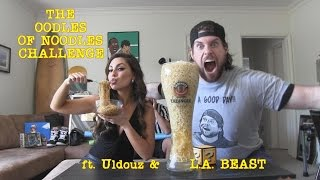 The Oodles Of Noodles Challenge | ft. Uldouz & L.A. BEAST