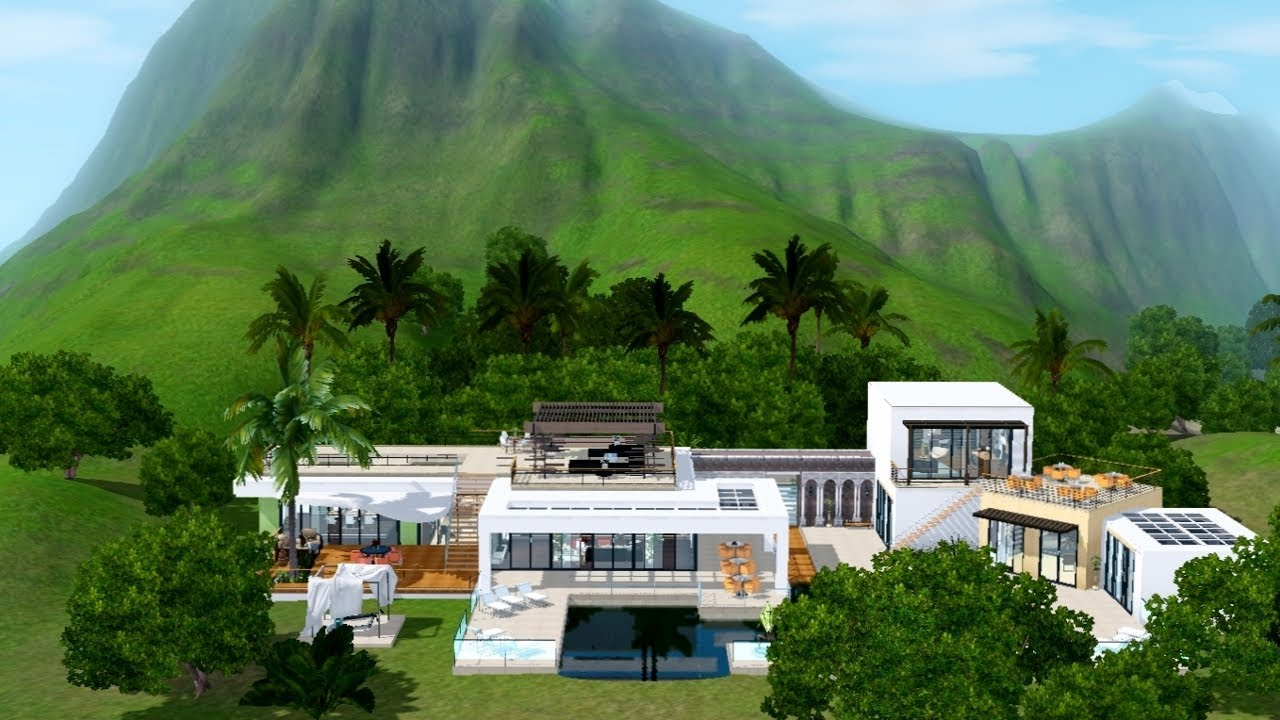 Modern Beach House the sims 3 ultra modern beach house v2 - youtube