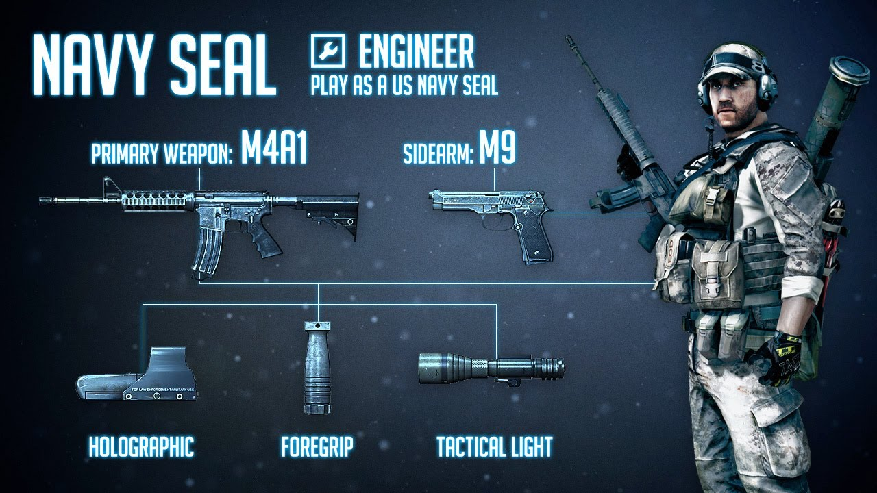 """""""Navy SEAL"""" : BF3 Engineer Loadout & M4A1 Gameplay - YouTube"""