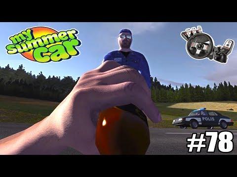 My Summer Car - Joguei uma Garrafa de Cerveja no Policial! #78 (G27 mod)