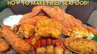 HOW TO MAKE FRIED SEAFOOD (KING CRAB + SNOW CRAB + LOBSTER)!
