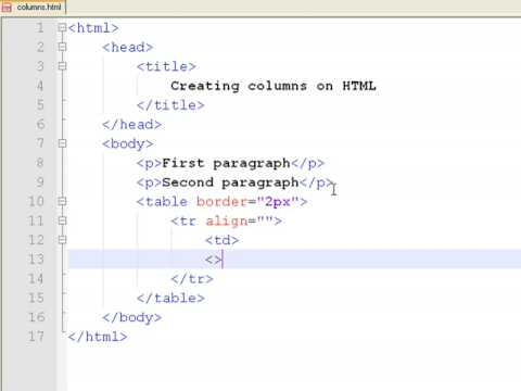 How To Create Web Pages Using HTML How To Make Columns