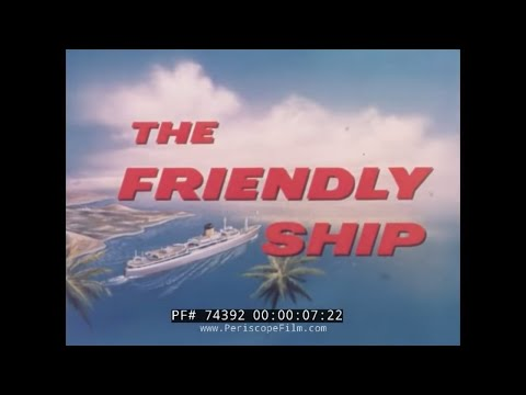"OCEAN LINER RMS TRANSVAAL CASTLE ""THE FRIENDLY SHIP"" PROMOTIONAL FILM74392"