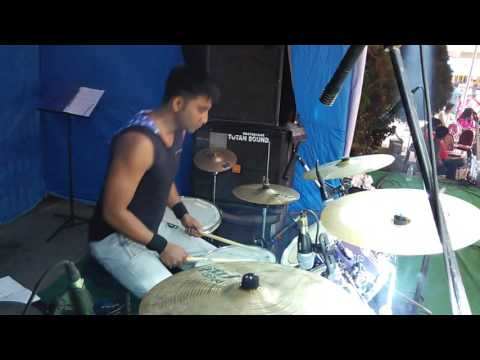 Abhijit playing drums Solo..