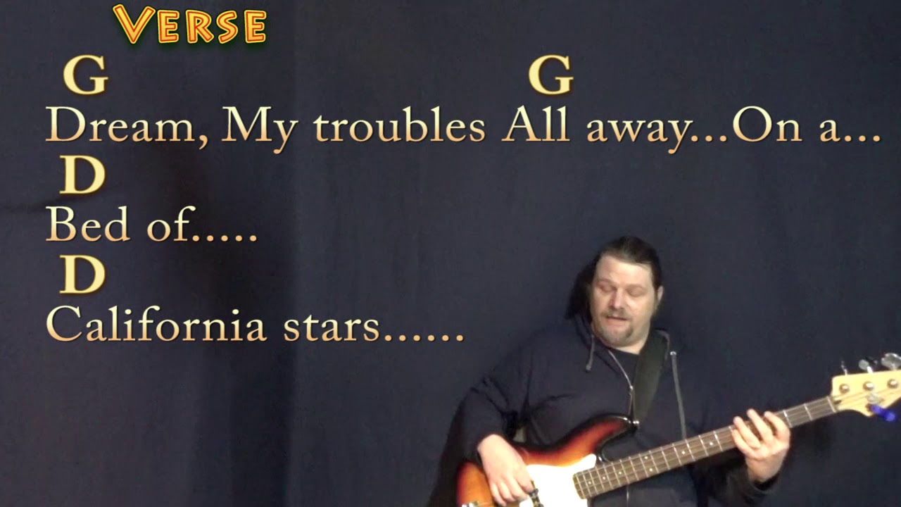 California Stars Wilco Bass Guitar Cover Lesson in G with Chords/Lyrics