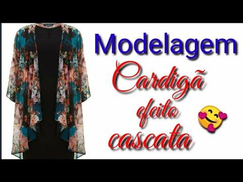 Modelagem De CARDIGÃ EFEITO CASCATA