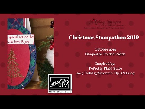 Christmas Stampathon 2019 - Stampin Up! Shaped Or Folded Cards