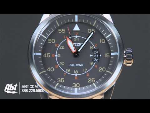 Citizen Eco-Drive Avion Mens Sport Watch AW136110H Overview