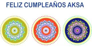 Aksa   Indian Designs - Happy Birthday