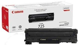 Чистка, заправка картриджа 725 го лазерного принтера Canon 6030<