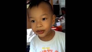 Kid who love Malaysia UTC song.