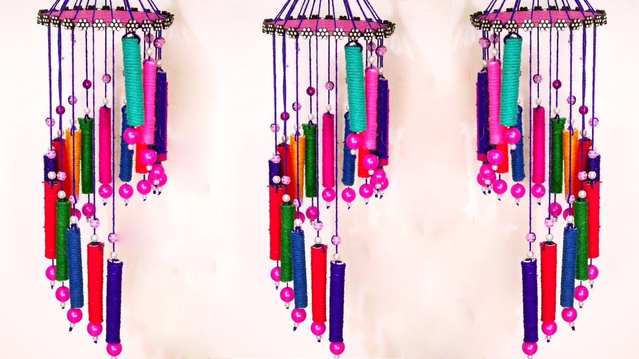 How To Make Wind Chime With Recycled Materials Homemade Chimes Idea Best Out Of Waste