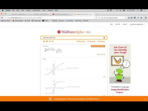 How to take a derivative using Wolfram|Alpha - Derivative Calculus Calculator