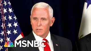 Mike Pence Strains Credulity With 'Obliviousness' Defense | Rachel Maddow | MSNBC