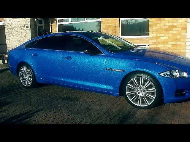 Jaguar XJ L Wrap : Avery Dennison SW900 Diamond Blue Vinyl