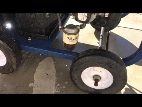 HYDRO-QUICK 3000 Psi Gas Diesel Portable Hot Water Pressure Washer demonstration