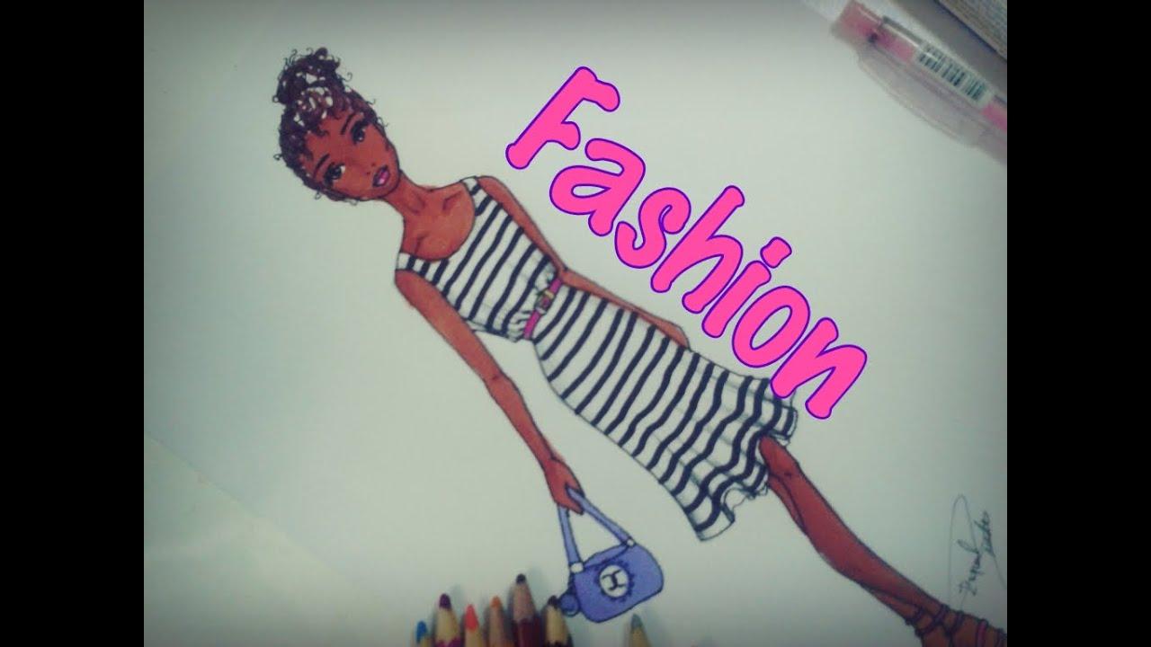 Desenho De Moda Rapido Fashion Girl Youtube