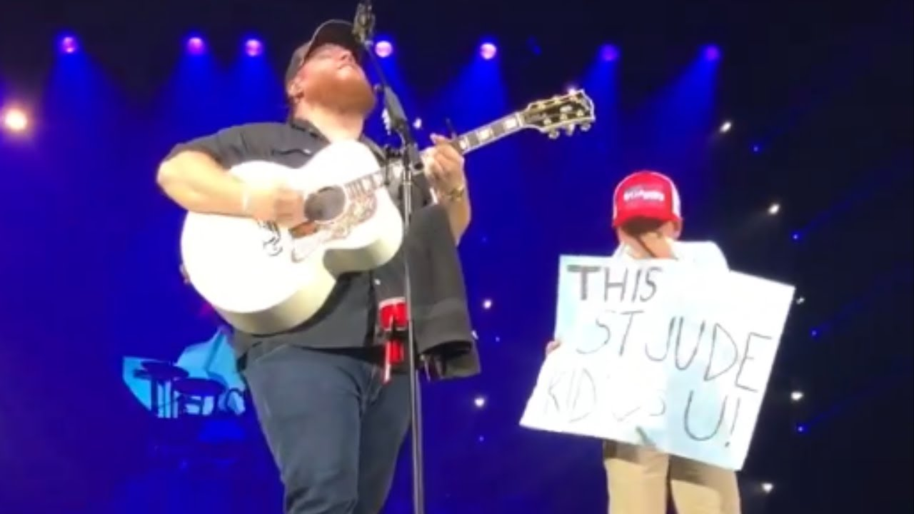 Luke Combs Brings St. Jude Patient To Tears With Powerful Performance