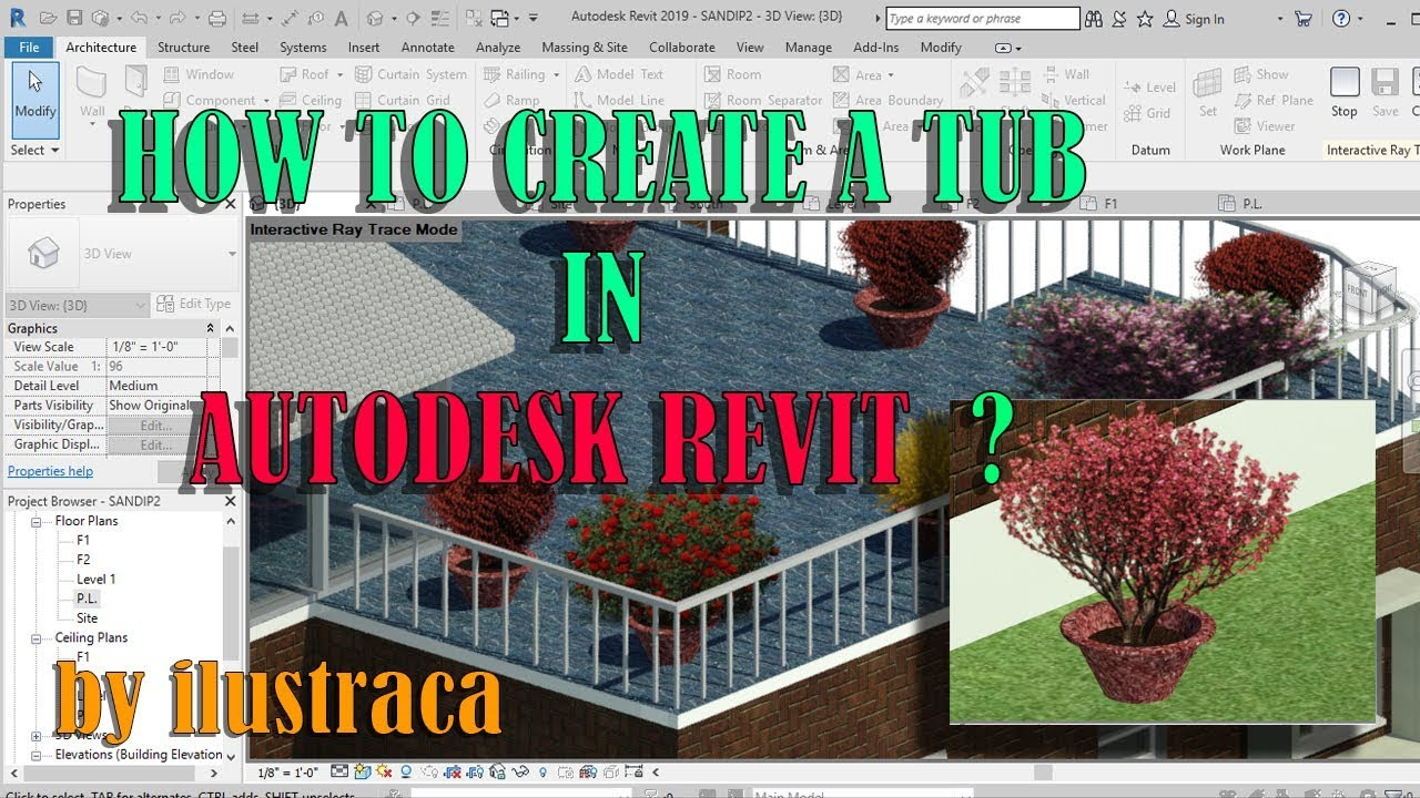 HOW TO CREATE FLOWER TUB IN AUTODESK REVIT ? - YouTube