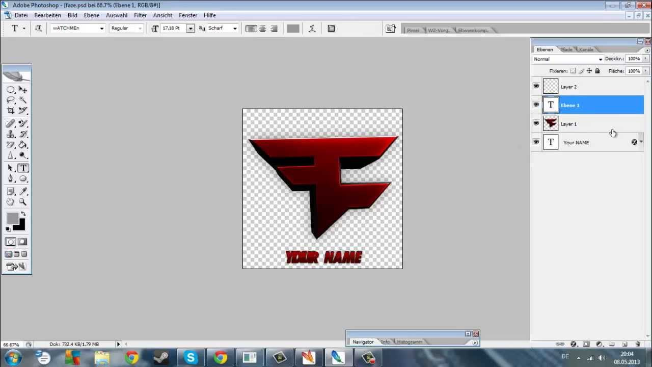 faze template how to edit youtube