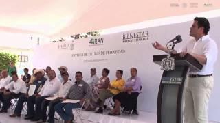 08-08-14 Maloro Acosta entrega de Títulos de Propiedad en Jalisco