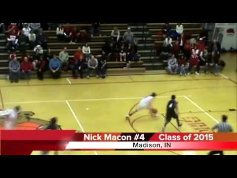 Nick Macon  Freshman basketball highlights  Madison Consolidated High School 2015, Indiana