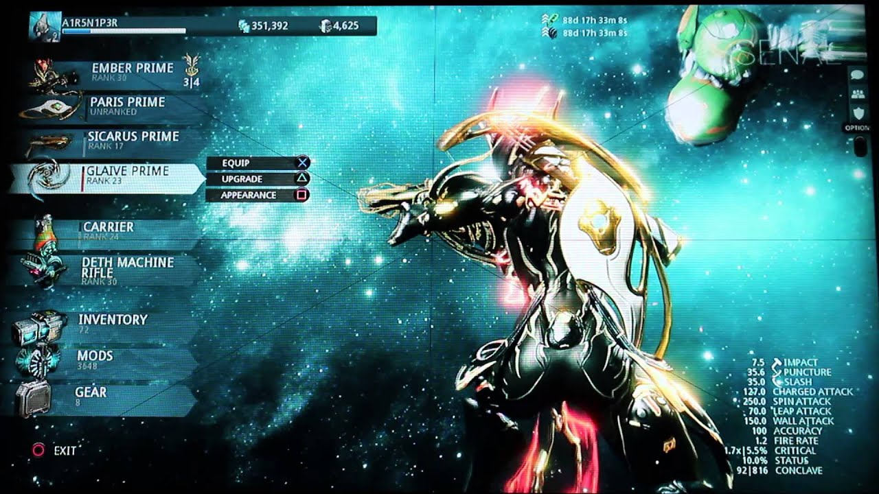warframe prime access inferno youtube. Black Bedroom Furniture Sets. Home Design Ideas