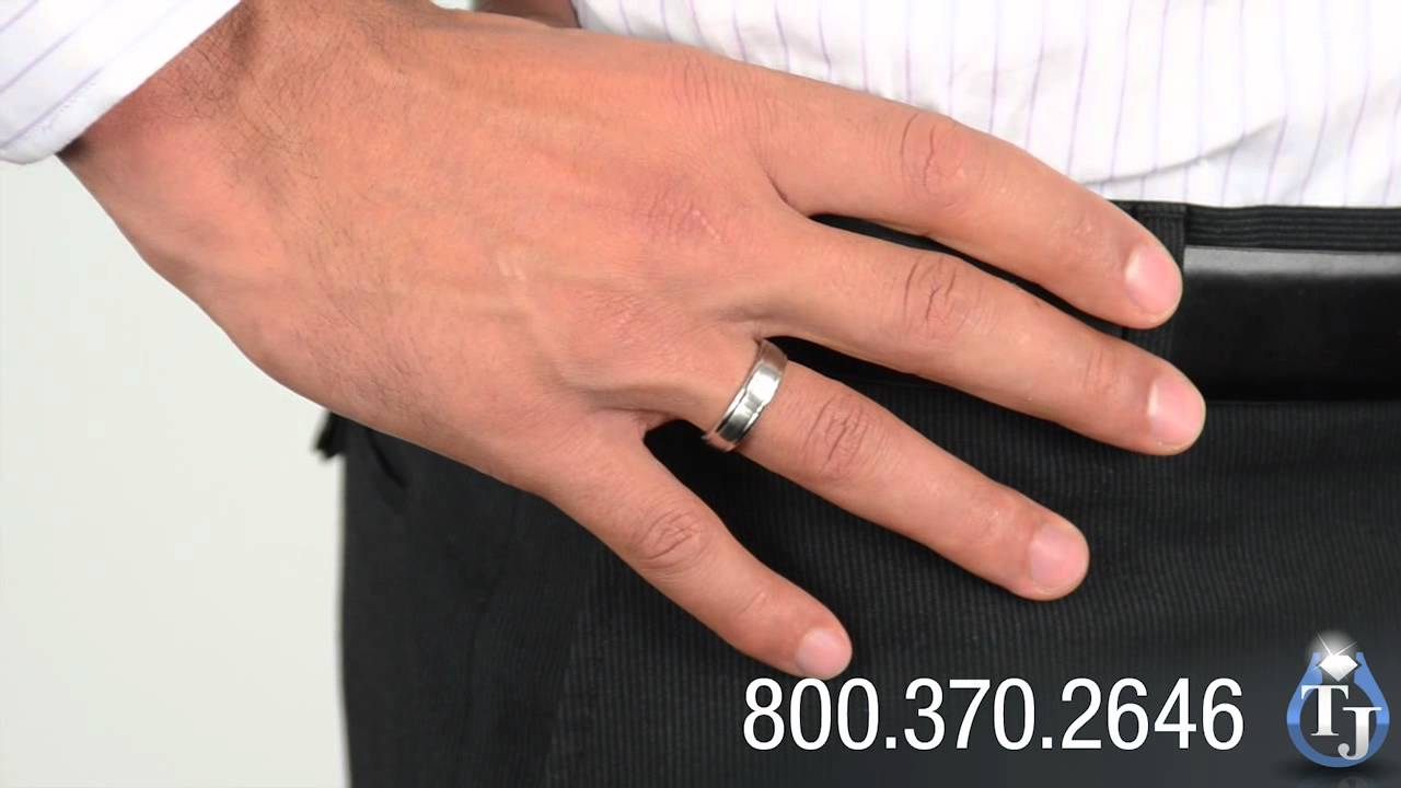 Mens Cobalt Chrome Ring By Benchmark, VALDUS Classic Style 6mm   YouTube