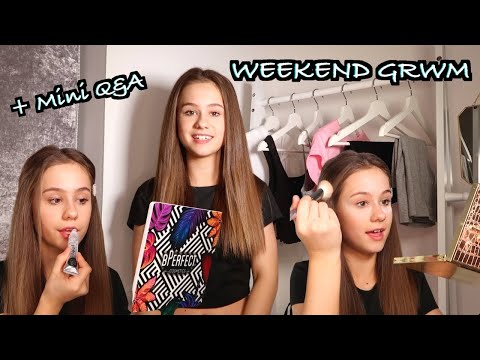 GRWM For the WEEKEND with a COSY Q&A
